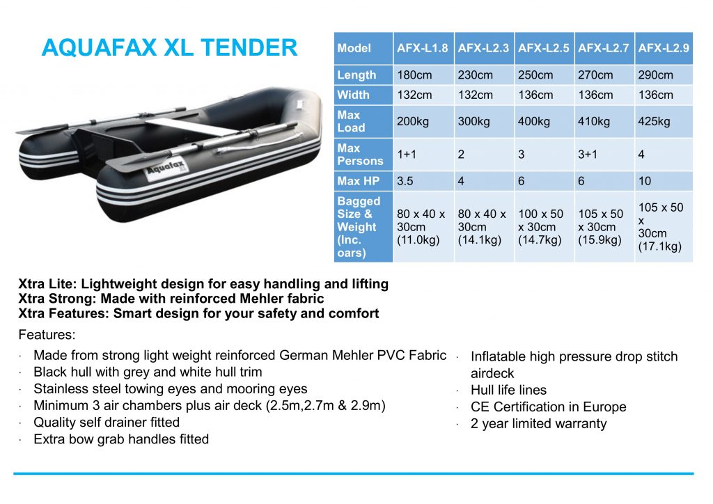 aquafax-xl-tender